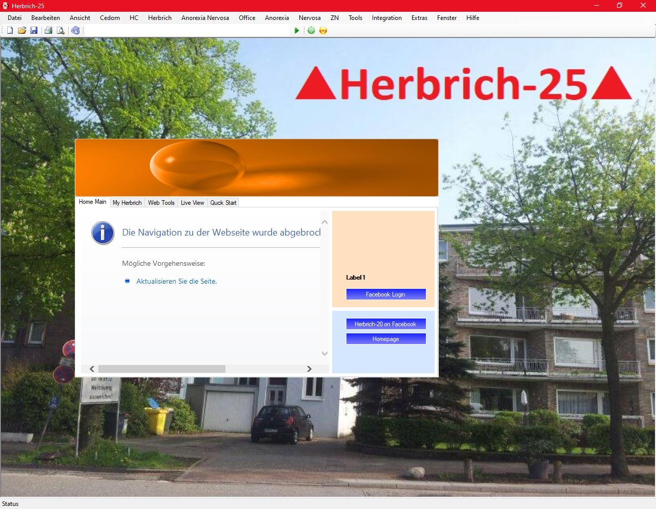 Herbrich-25 Homescreen